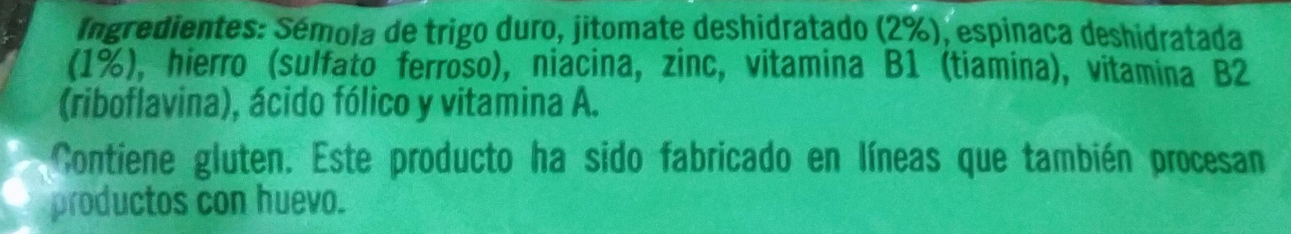 Vegetales Penne Rigate - Ingrédients