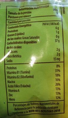 Vegetales Penne Rigate - Informations nutritionnelles