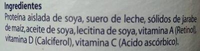 Soyacen - Ingredients - es