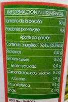 Piña en trozos - Información nutricional - es