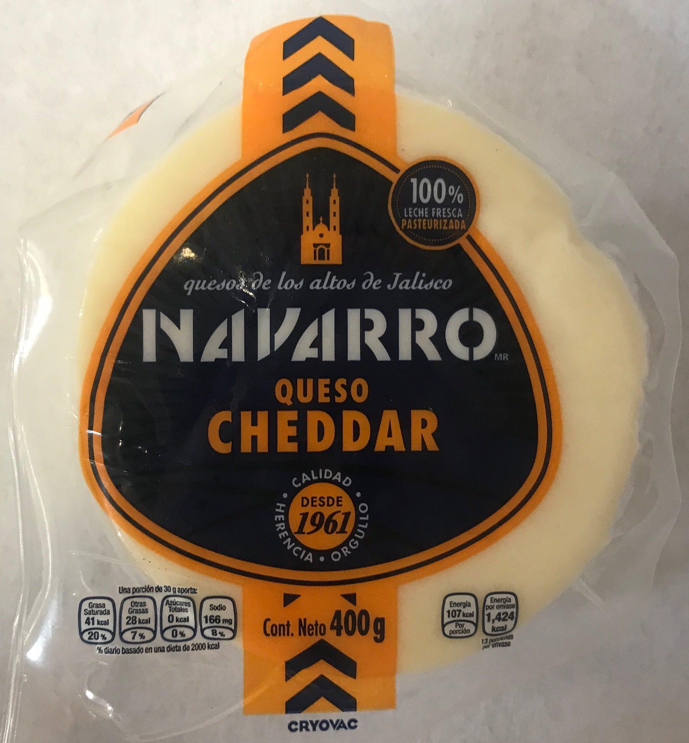 Queso Cheddar Navarro - Product - es
