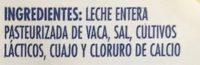 Queso Cheddar Navarro - Ingrediënten - es