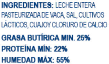 Queso adobera - Ingredients