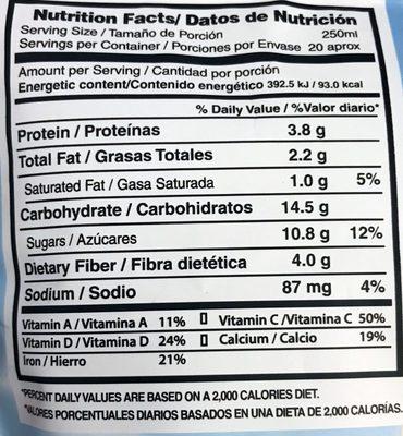 Soyalac sabor capuchino - Voedingswaarden