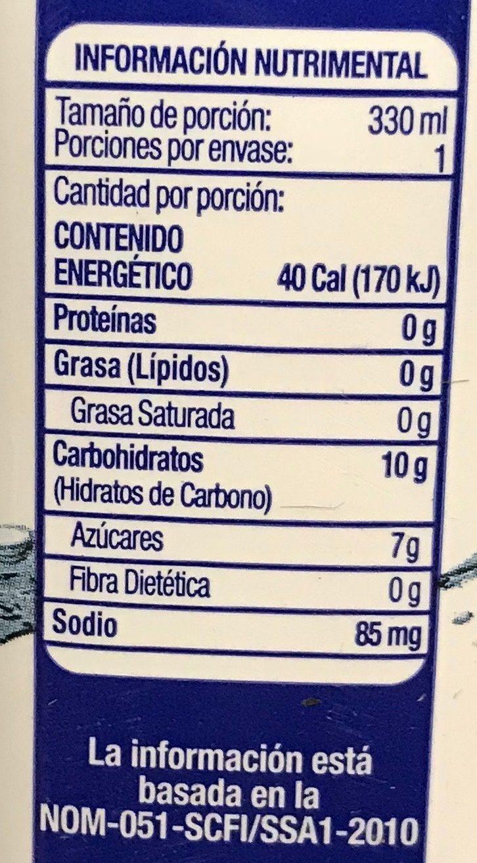 acapulcoco agua de coco informacion nutricional