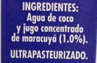 Acapulcoco con jugo de Maracuyà - Ingrediënten