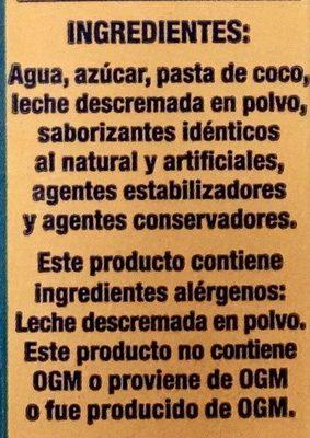 Calahua Horchata - Ingredients - es