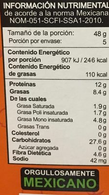 Integra proteína barra multigrano, arándano, almendra y cacahuate - Nutrition facts