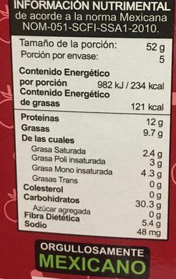 Integra proteína arándano, almendra, cacahuate. - Voedingswaarden - es