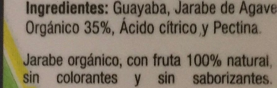 Mermelada de guayaba con jarabe de agave Agave Sweet - Ingredientes - es