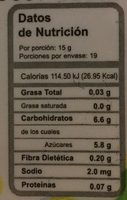 Mermelada de guayaba con jarabe de agave Agave Sweet - Información nutricional - es