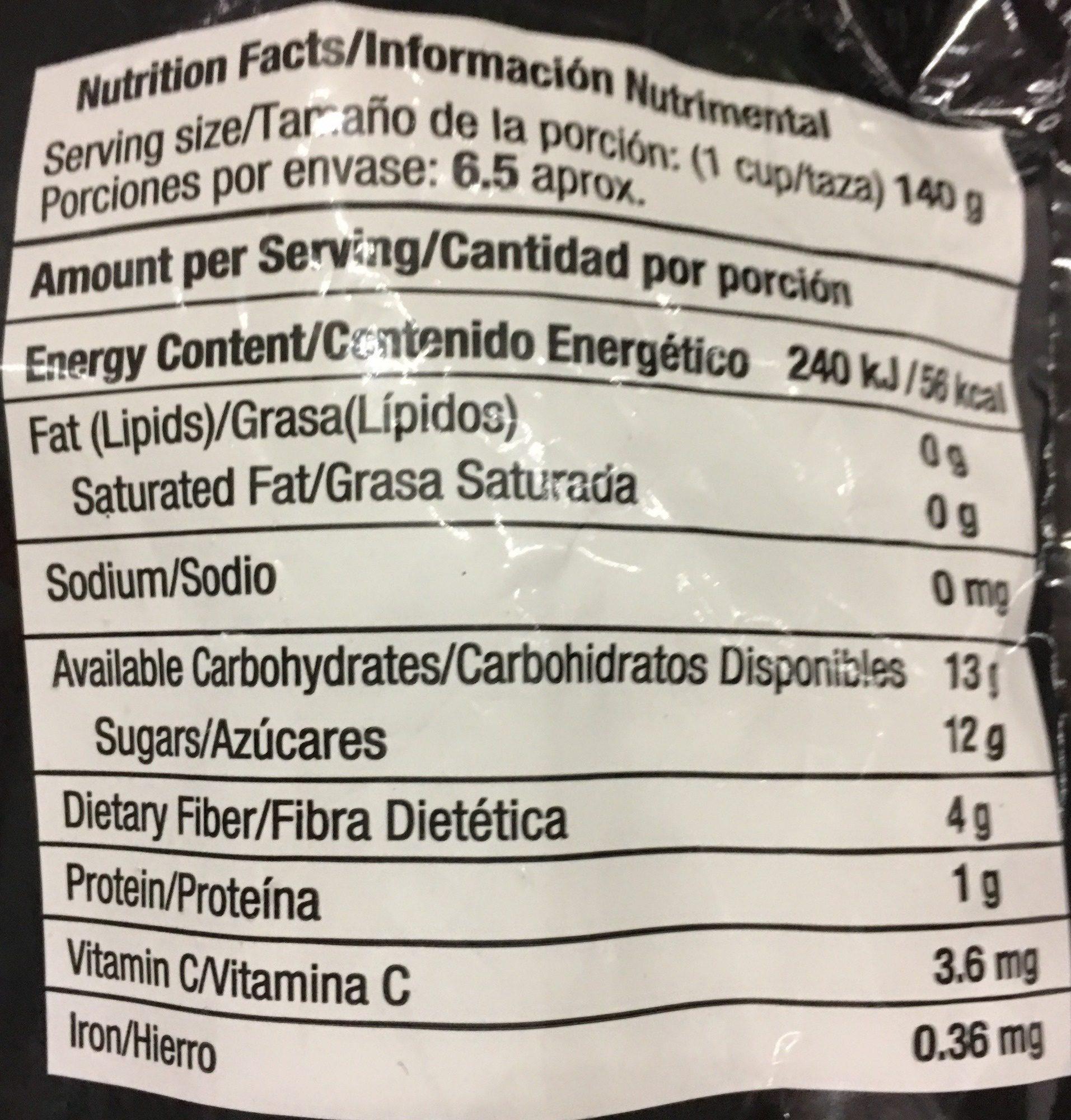 Blueberries - Informations nutritionnelles - es