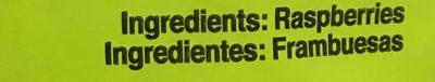 FRAMBUESA CONGELADA - Ingrédients - es