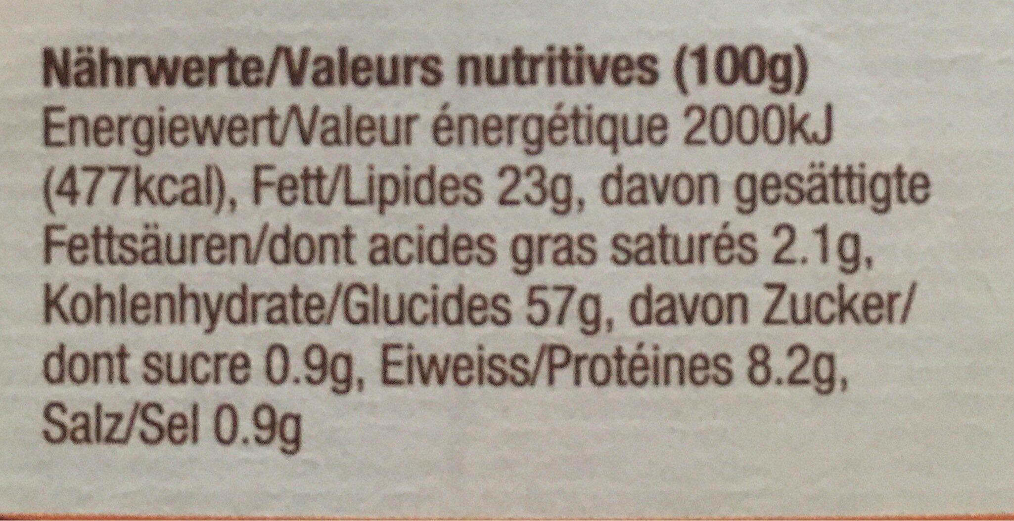 Chili Tortilla Chips Mais Jaune - Informations nutritionnelles - fr