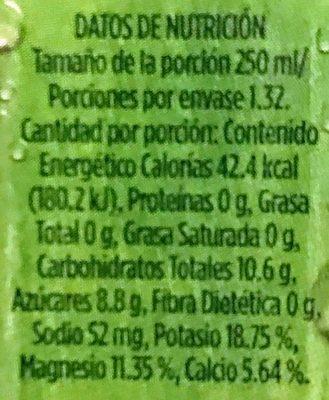 A de Coco - Información nutricional - es
