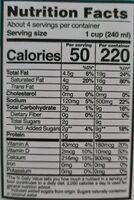 Alimento Líquido de Coco - Información nutricional - es