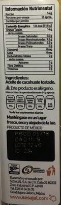 Aceite de cacahuate Inés - Ingrediënten