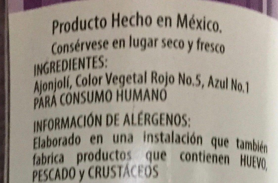 AJONJOLI MORADO - Ingrediënten - es