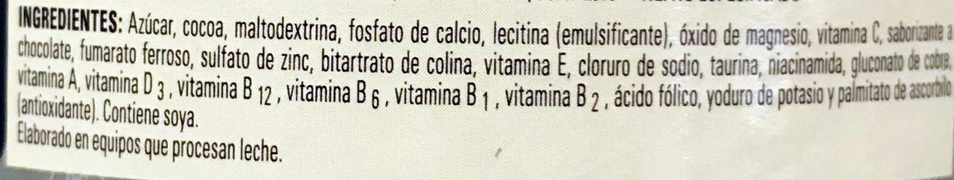 CAL-C-TOSE - Ingredientes - es