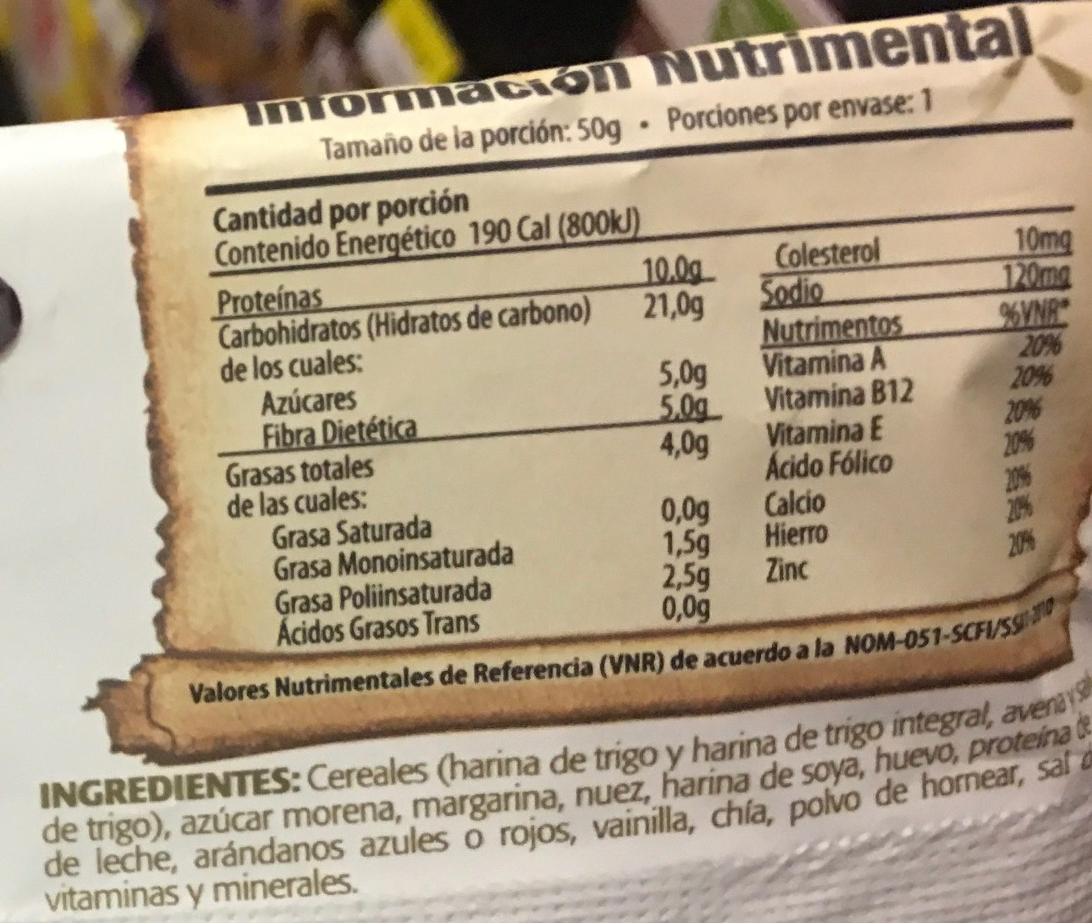 alimento ancestral 100% natural - Voedingswaarden - es