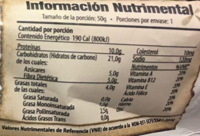 alimento ancestral - Informations nutritionnelles - es