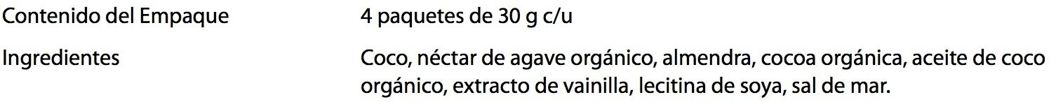 Galletas pure cocoa Trusnack - Ingredientes - es