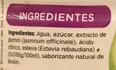 Té verde sabor jazmín limón - Ingrediënten - es