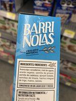 Barrinolas con miel de agave - Ingrediënten - es