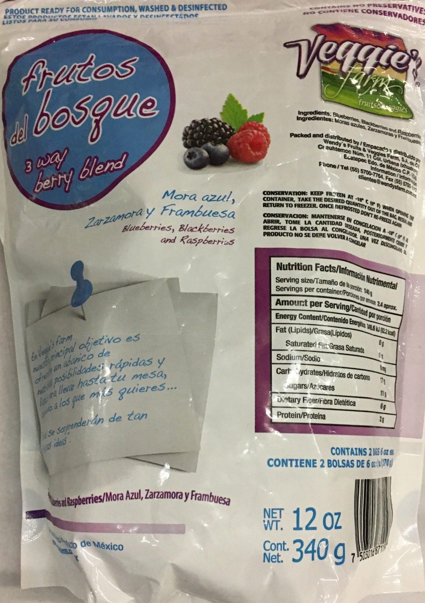 Frutos del Bosque - Ingrédients - es