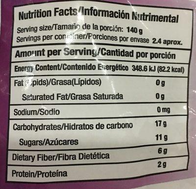 Frutos del Bosque - Informations nutritionnelles - es