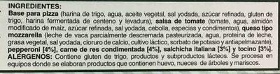 Pizza Meat Lovers - Ingredients - es
