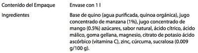 Pure Natural concepts Quinoa sabor Mango - Ingrediënten