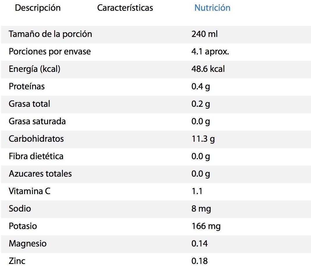 Pure natural concepts, Quinoa sabor Manzana - Informations nutritionnelles - es