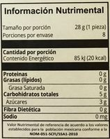 Mini paletas de frutos rojos Holistik - Informations nutritionnelles - es