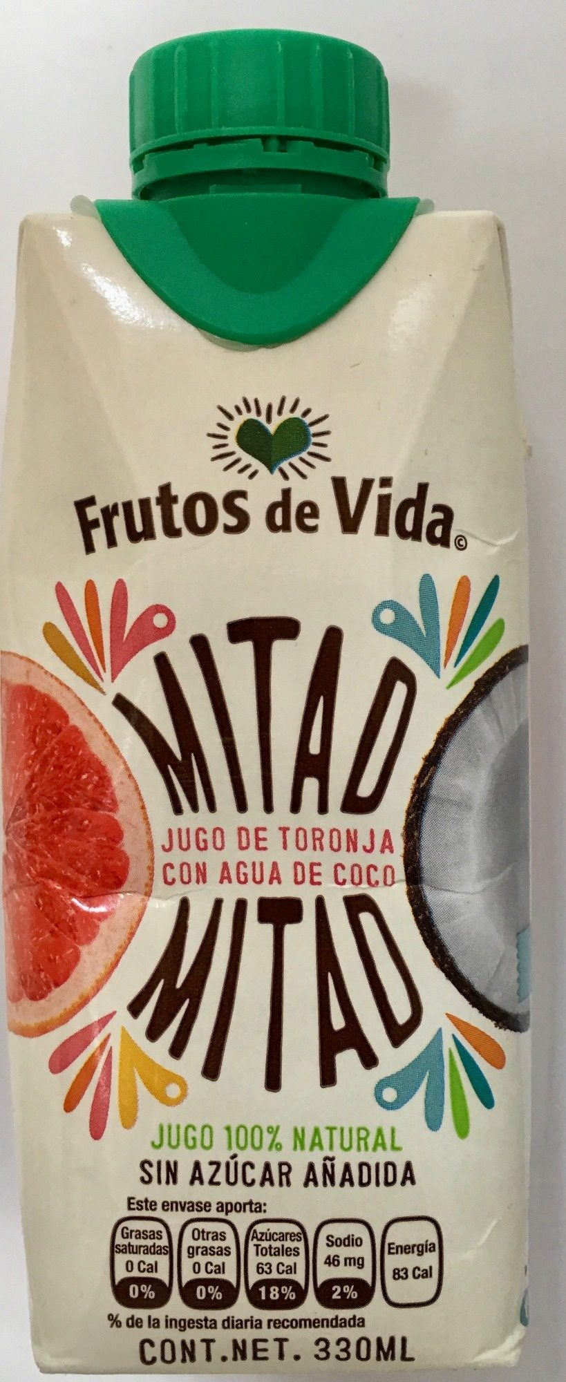 Mitad Mitad jugo de toronja con agua de coco - Produit - es