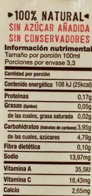Mitad Mitad jugo de toronja con agua de coco - Informations nutritionnelles - es