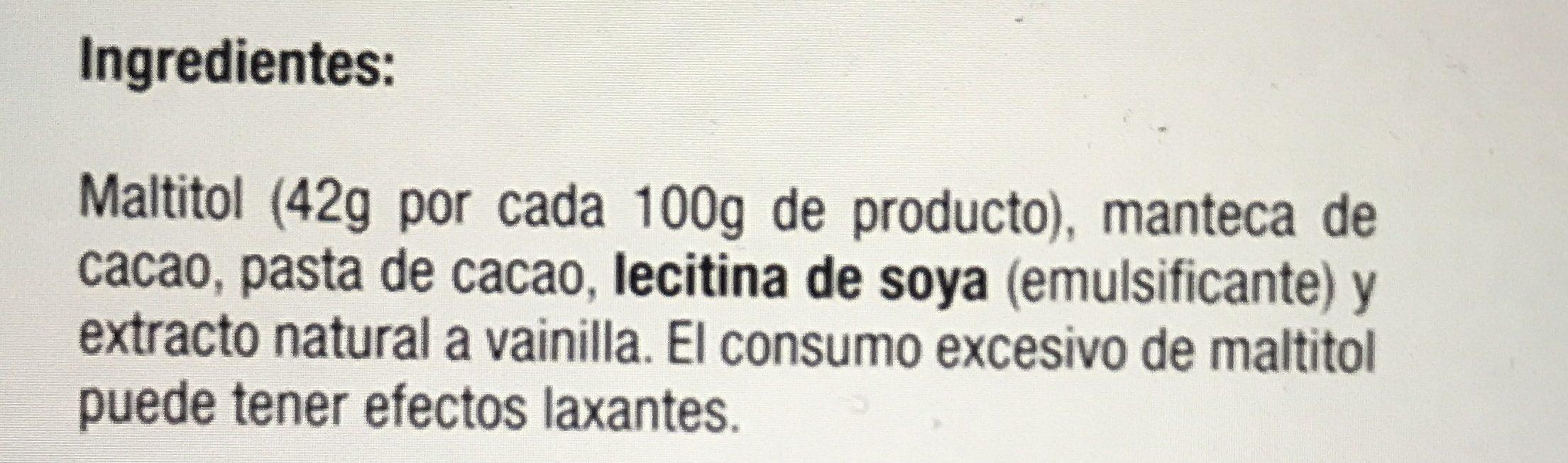 Chocozero - Ingrediënten