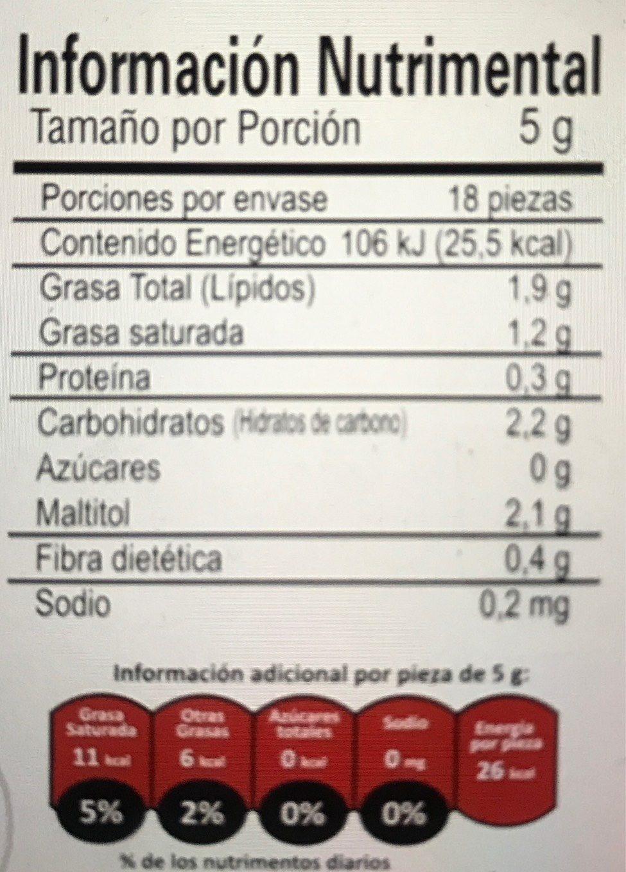 Chocozero - Voedingswaarden