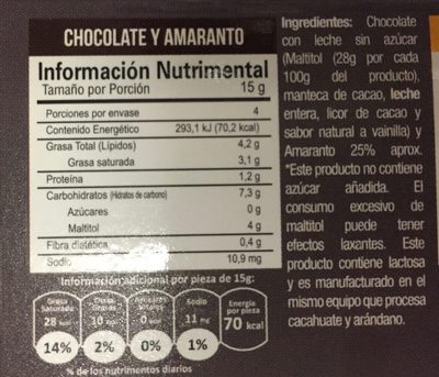 Mini snacks Picard - Nutrition facts - es