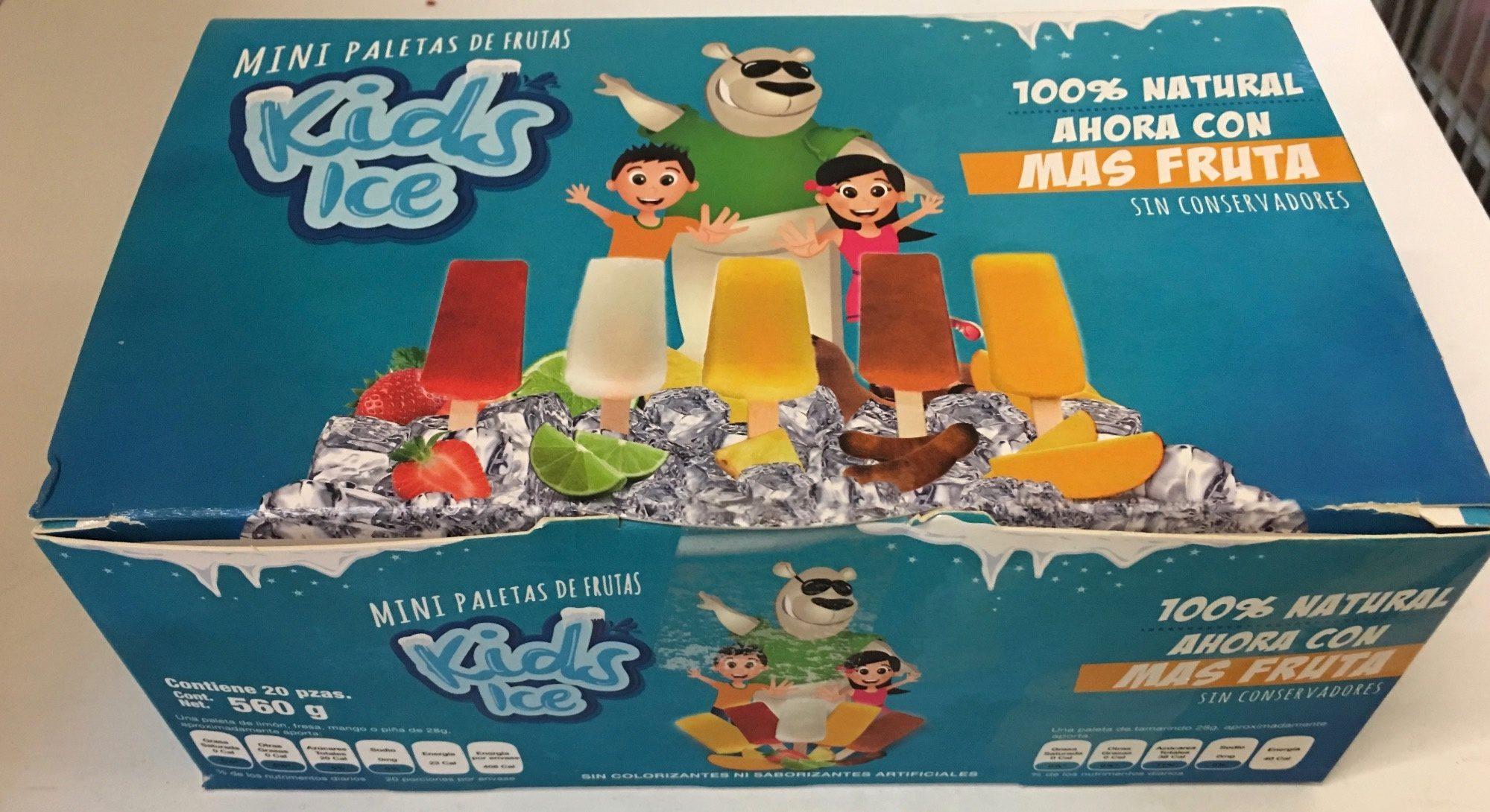 Mini paletas de agua Kids Ice - Produit