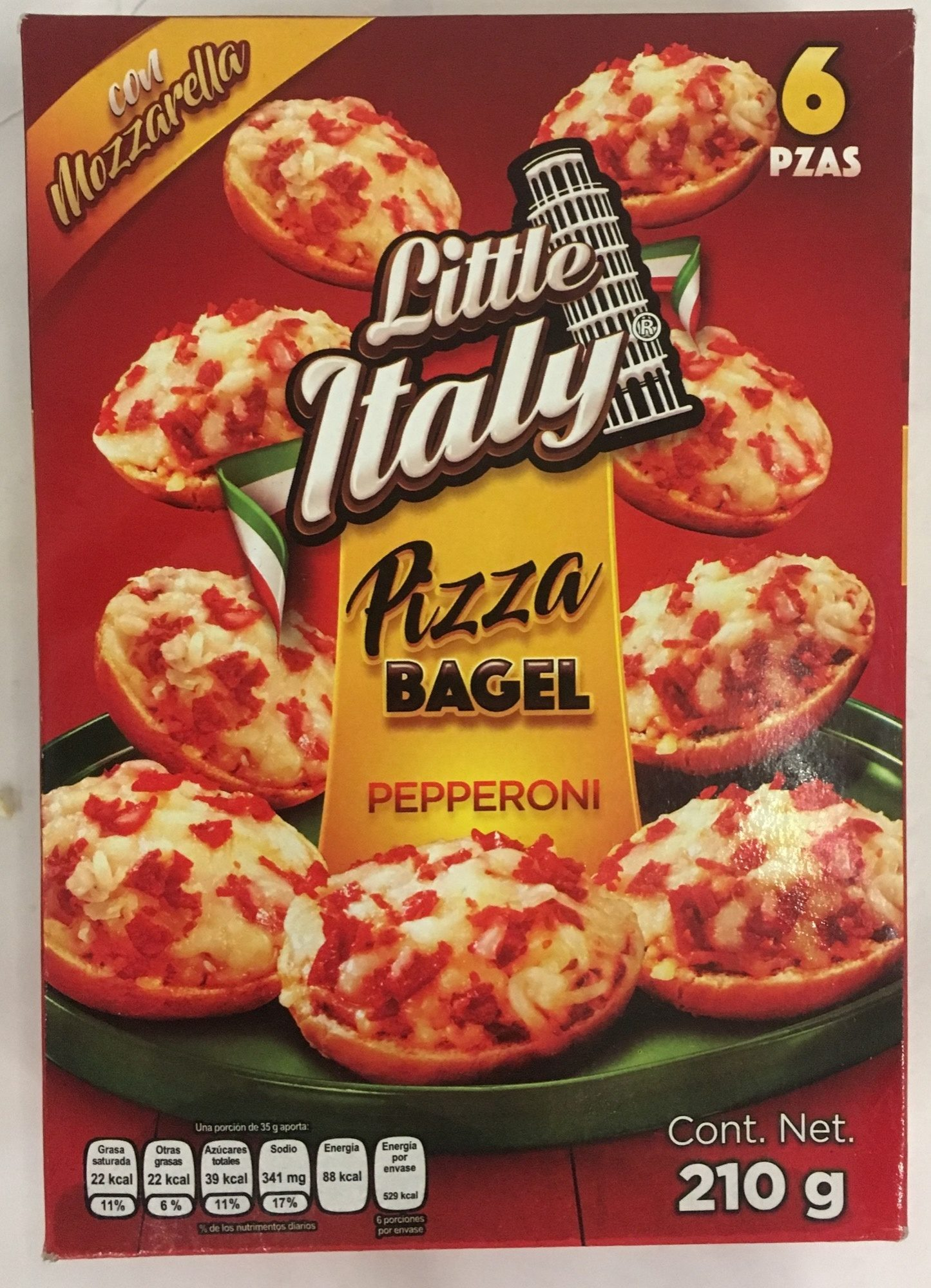 Pizza Bagel Pepperoni Little Italy - Product
