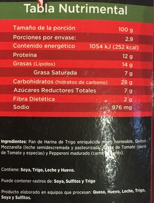 Pizza Bagel Pepperoni Little Italy - Nutrition facts