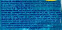 Sorpresa vainilla - Voedingswaarden - es