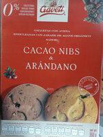 Galletas con avena sabor cacao nibs y arándano - Producto - es