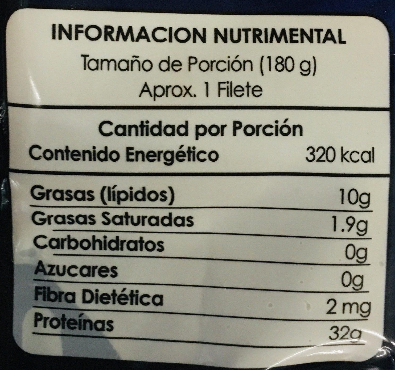 Salmón, Premium sea food, bonisimo del mar, - Informations nutritionnelles - es