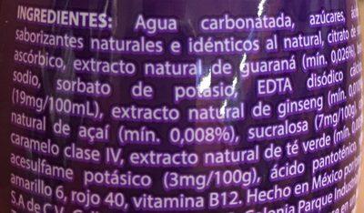 Vive 100 Azai - Ingredients - es