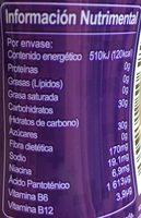 Vive 100 Azai - Nutrition facts - es