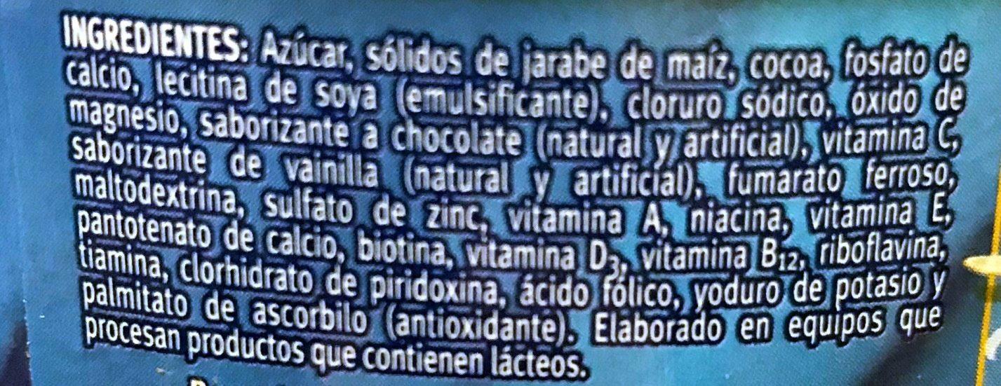 Choco Milk - Ingredients - es