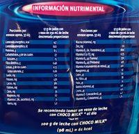 Polvo para preparar bebidas sabor chocolate - Informations nutritionnelles - es