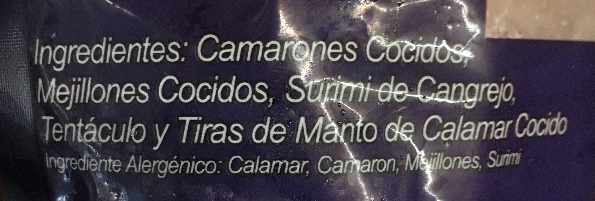 Mariscada, Premium sea food, bonisimo del mar, - Ingredients - es